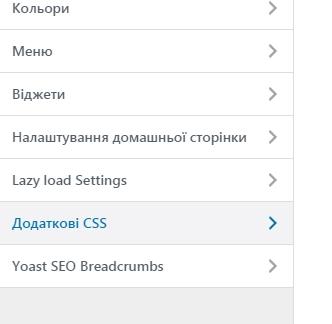 Фото Додаткові CSS у WordPress